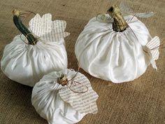 Fabric Paper Thread: Fabric Pumpkin Tutorial