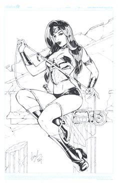 Wonder Woman inks by Elias-Chatzoudis.deviantart.com on @deviantART