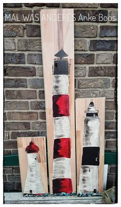 Upcycling aus Laminat-Resten - #Leuchtturm #Lighthouse #Maritim #Nordsee #Ostsee #Meer #Hafen #Strand #Laminat #DIY #Handmade #bemalte Bretter #bemaltes Holz #painted wood #Malwasanderes #upcycling #https://www.facebook.com/Mal-was-anderes-360059960828712/