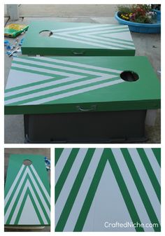 One day my boards will be painted Diy Cornhole Boards, Cornhole Set, Cool Diy Projects, Crafty Projects, Project Ideas, Craft Ideas, Auction Projects, Auction Ideas, Cornhole Designs