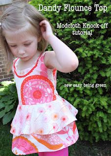 sew easy being green: Dandy Flounce Top: Modcloth Knock-off tutorial
