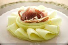 Cómo presentar el clásico melón con jamón de una manera diferente