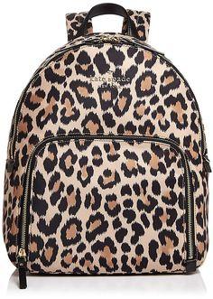 Kate Spade New York kate spade new york Watson Lane Hartley Leopard Print Nylon Backpack #ad
