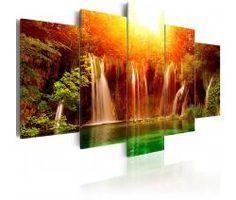 Картины пейзажи - пейзаж водопада