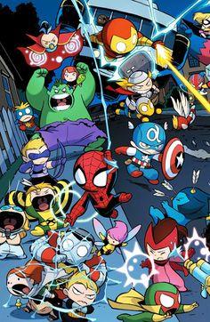 Get Inspired For Marvel Wallpaper For Iphone X images Baby Marvel, Chibi Marvel, Marvel Kids, Baby Avengers, The Avengers, Marvel Art, Marvel Heroes, Thanos Avengers, Avengers Cartoon