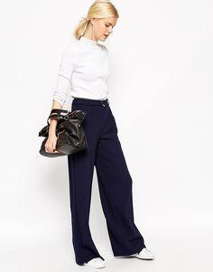 ASOS+Wide+Leg+Trouser+with+Belt+Detail