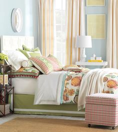 Love these colors. Luxury Bedding by Eastern Accents - Portia Collection.
