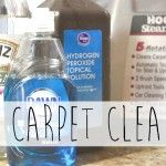 DIY Carpet Cleaner for Steam Cleaner - 1 cup hydrogen peroxide, cup white vinegar, cup Dawn, essential oils (Optional). Fill dispenser with this solution and fill water dispenser with hot water. Or, add about 5 cups of hot water to solution and spot treat