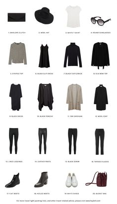 Travel Light - Pack for Winter in Paris. 20 items, 10 outfits, 1 carry-on.