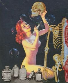 Oh So Gawjess Health pin ups vintage exercise healthy poster scientist