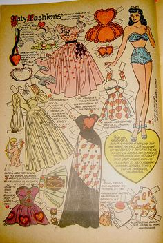 Katy Keene Valentine's Day Paper Doll, from May 1954