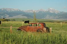 Near Harrison, Montana. Tobacco Root Range in the background. This is my home and I absolutely love living here :)