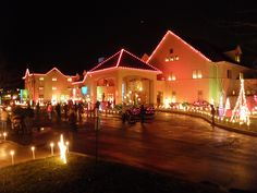 The #Ronald #McDonald #House of #Delaware's 'Share A Night' lighting- looks amazing!