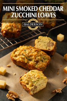 Zucchini Loaf, Zucchini Bread Recipes, Cheddar, Clean Eating Recipes, Cooking Recipes, Mini Pains, Toaster Oven Recipes, Recipe Filing, Savoury Baking