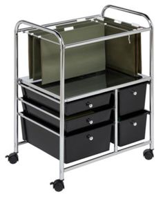 Honey Can Do Hanging File Storage Cart, 5 Drawer - Cleaning & Organizing - for the home - Macy's