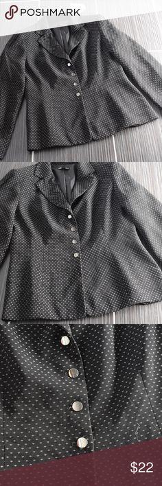 """Giorgio Sant' Angelo Black White Jacket Sz 12 Giorgio Sant' Angelo Black Jacket Size 12 40"""" Bust 36"""" Long Giorgio Sant' Angelo Jackets & Coats Blazers"""