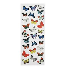Vintage butterfly stickers