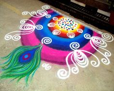 30 Best and Easy Rangoli Designs for Diwali Festival | Read full article: http://webneel.com/rangoli-designs-for-diwali | more http://webneel.com/drawings | Follow us www.pinterest.com/webneel