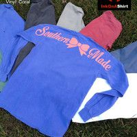 Comfort Color Southern Made Long Sleeve T Shirts
