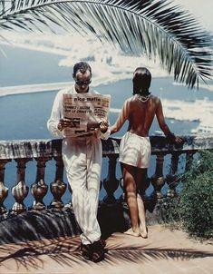 Retro Vintage Mod Style: Helmut Newton: Morning at the Cote D'Azur