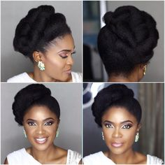 Some women often encounter many surprises and troubles with their natural hair. It's either difficult to style or lacks length for versatile impressive hairstyles. Omoni Oboli makes natural hair look… African Braids Hairstyles, Twist Hairstyles, Black Hairstyles, Prom Hairstyles, Celebrity Hairstyles, Quinceanera Hairstyles, Dreadlock Hairstyles, Updo Hairstyle, Natural Hair Braids