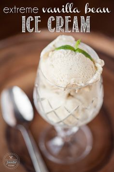 There is nothing quite like a scoop of homemade rich and creamy Extreme Vanilla Bean Ice Cream. Its the perfect dessert.