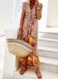 2585f9e3b9e Dress -  58.99 - Floral Peasant Cap Sleeve High Low Shift Dress  (1955280711) Holiday
