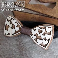 Wood bow tie Romance wooden accessory with by WoodenAccessoriesRU
