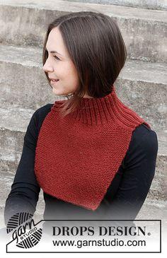 Shawl Patterns, Knitting Patterns Free, Free Knitting, Baby Knitting, Knitting Yarn, Drops Design, Crochet Slippers, Knit Crochet, Crochet Neck Warmer