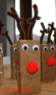 Rudolph juice boxes // Paintsewgluechew.blogspot.co.uk