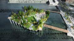 Thomas Heatherwick's Pier 55 over New York's Hudson River
