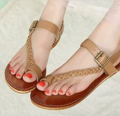 Price:$34.50 - On Sale Gladiator Shoes OL leather retro woven shoes sandal