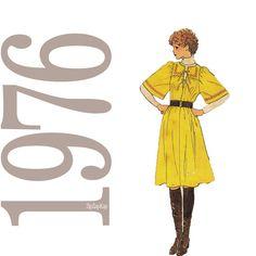 70s Dress Vintage Pattern B32 Simplicity 7565 by ZipZapKap, $10.00