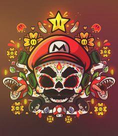 Super Mario World (Skull version 2 oct México)