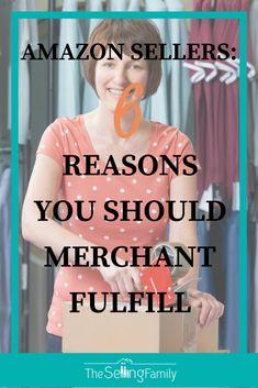 6 Reasons You Should Merchant Fulfill On Amazon Amazon Seo, Amazon Jobs, Amazon Hacks, Sell Items Online, Selling Online, Selling On Ebay, Make Money On Amazon, Sell On Amazon, Retail Arbitrage