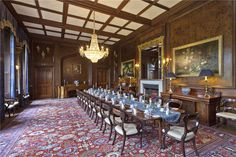 Hampton Court, Hope-Under-Dinmore, Leominster, Herefordshire, UK Farm House For Sale, Property For Sale, State Room, Hampton Court, Old Building, Old Houses, The Hamptons, Dining Table, Dining Room