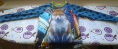 Cool foxy t-shirt str. 116 til min lille frække rødhåret søn. = 175 kr.