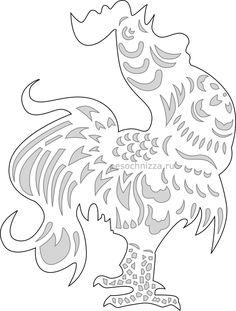 вытынанки, 2017, год петуха, курица, петух, шаблоны для вырезания, из бумаги