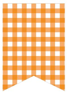 orange gingham Paper Banners, Pennant Banners, Bunting Banner, Printable Banner, Printable Crafts, Printable Labels, Teddy Bear Party, Eid Crafts, Blog Backgrounds