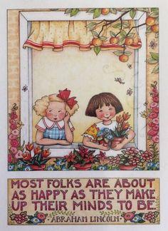Handmade Fridge Magnet-Mary Engelbreit Artwork-Most Folks