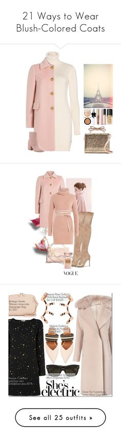 """""""21 Ways to Wear Blush-Colored Coats"""" by polyvore-editorial ❤ liked on Polyvore featuring waystowear, blushpinkcoats, Loro Piana, RED Valentino, Sam Edelman, Too Faced Cosmetics, Yves Saint Laurent, Kendall + Kylie, STELLA McCARTNEY and Giorgio Armani"""