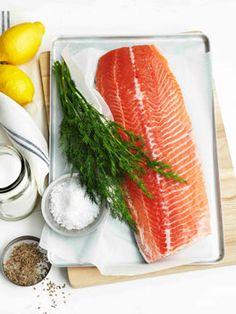 """""""Buried salmon"""" - Nordic dish of cured raw salmon"""