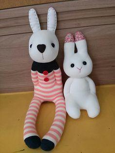 socks doll rabbit