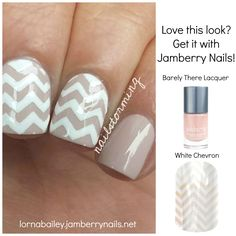 Get this look with Jamberry Nails! #Jamberry  #nude #chevron #nailart #nails $15 www.lornabailey.jamberrynails.net Original art by nailstorming on Iconosquare