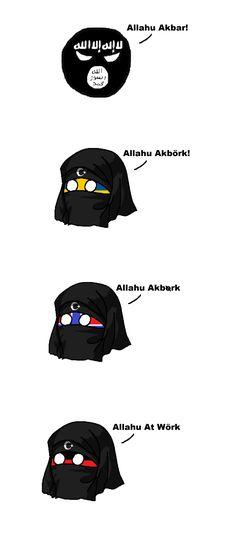 Allahu across europe