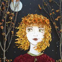 Что такое осень? Это листья! Прекрасный повод заняться забытым искусством аппликации.  #Abbigli #рукоделие #хобби #креатив #handmade