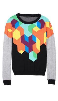 Tibi, Geo Intarsia Sweater, USD 265.00 on Set That -