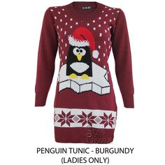 2e75ecddc773 MENS LADIES XMAS CHRISTMAS JUMPER NOVELTY RUDOLPH PENGUIN RETRO SWEATER  JUMPERS in Clothes