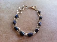 Pearls and Chain Bracelet by StoneWireWorks on Etsy