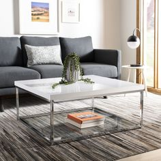 online shopping for Safavieh Home Collection Malone White Chrome Coffee Table from top store. See new offer for Safavieh Home Collection Malone White Chrome Coffee Table Stylish Coffee Table, Lift Top Coffee Table, Coffee Table With Storage, Modern Coffee Tables, Living Room Coffee Tables, Coffee Table High Gloss, Coffee Table Walmart, Ikea Coffee Table, Living Room Furniture